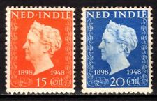 Dutch Indies - 1948 Silver Jubilee Wilhelmina - Mi. 360-61 MH