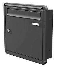 Unterputz Briefkasten Mauer Einbau 1-teilig Tiefe 100 Rahmen Farbauswahl UPH121