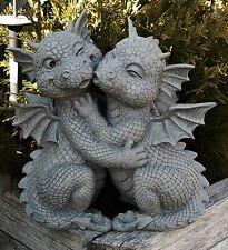 Drache Drachenpaar küsst sich Torwächter Gartenfigur  Neu