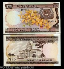 SINGAPORE 25 DOLLARS 1972 Z/1 *REPLACEMENT ORCHID UNC CURRENCY MONEY BANK NOTE