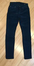 Designer 7 For All Mankind Womens Teal Corduroys Pants Mod Size 24