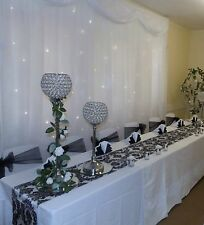 13 x Black & White Damask Table Runners  35cm W x 272cm L , wedding
