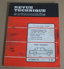 Revue technique 1968 RTA 269 Fiat 125 berline