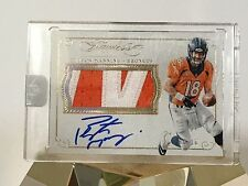 Peyton Manning 2015 Flawless Auto Patch Broncos 8/10 Encased