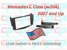 Aftermarket Double Din Radio Install Dash Kit Fits Mercedes-Benz W204 C-Class