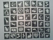 50 x filles pochoirs de tatouage pour les tatouages paillettes / art / aérogra