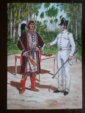 POSTCARD AMERICAN-INDIAN WARS - OSCEOLA SEMINOLE INDIAN CHIEF - 2ND REGT US DRAG