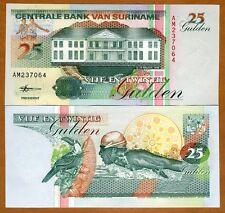Suriname /  Surinam, 25 Gulden, 1998 Pick 138 (138d) UNC > Swimmer