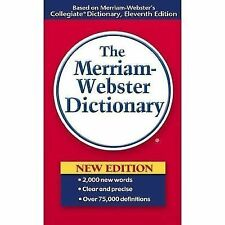 THE MERRIAM-WEBSTER DICTIONARY, NEW WORDS ADDED, OVER 70K DEFINITIONS, NEW