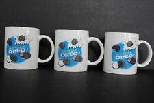 Set of 3 Nabisco Oreo Cookies White Ceramic Coffee Mug How Do You Eat An Oreo?