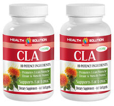 Fat Loss Sspplement - CLA 1250mg - Fast Weight Loss - Herbal Blend - 2 B 180 Ct