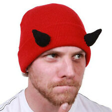 Beard Heads Brand Devil Head Knit Hat with Horns (No Beard) Brand New - Awesome