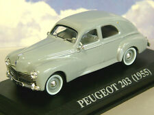 SUPERB DIECAST 1/43 1955 PEUGEOT 203 IN GREY.
