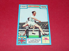 N°89 DAVID BURGHLEY PANINI OLYMPIA 1896 - 1972 JEUX OLYMPIQUES OLYMPIC GAMES