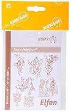 Vorlagenbogen für Brandmalerei Zeichenvorlage DIN-A3 doppelseitig - Elfenmotive