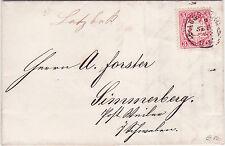 Altdeutschland (Bayern) Brief von 1873, mit Mi.-Nr. 23, gel. Augsburg-Simmerberg