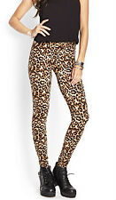 37% OFF AUTH FOREVER 21 LEOPARD PRINT LEGGINGS BNEW LARGE SRP US$ 10.80+
