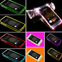 TPU LED Flash Light Up Incoming Call Cover Case Skin  For iPhone 5 5s 6 6Plus