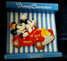 """MICKEY AND MINNIE MOUSE in a car  MAGNET 2x2.5""""  Sekiguchi Japan Market"""