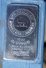 10 oz ROYAL CANADIAN MINT .9999 FINE SILVER BAR  hr 2 of 2