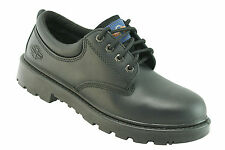 Pro Man PM4004 Size 4 S3 Black Leather Steel Toe Cap Safety Shoes Work Shoes