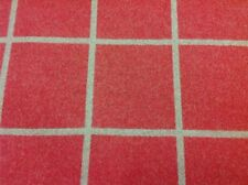 Manuel Canovas Red Wool Check Upholstery Fabric- Shetland Rouge 1.75 yd 4677-09