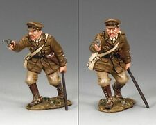 KING AND COUNTRY WW1 BRITISH OFFICER WITH PISTOL FW139 MILITARY METAL 1.30 SCALE