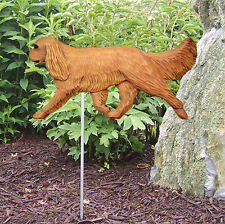 Cavalier King Charles Outdoor Garden Dog Sign Hand Painted Figure Ruby