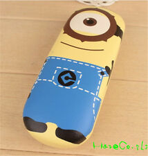 New 2015 Despicable Me 3 Minion soft surface inside Glasses Case box Hot gift