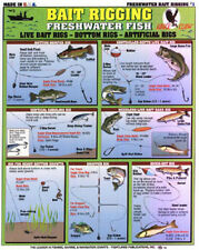 """Lot of 4 - How to Catch """"em"""" - FRESHWATER - Tightlines Charts #1, #3, #4, & #13"""