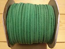 4M x 3MM GREEN NO 2 FLAT  REAL SUEDE LEATHER CORD THONG LACE SECONDS