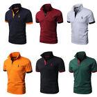 Herren Kurzarm T-shirts Poloshirt Shirt Polohemd Freizeit Tops Slim Fit Gr.M-2XL