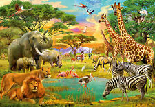 366x254cm Photo Wallpaper wall mural Safari Wild animals decor childrens room