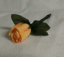 Flower Pen- Yellow, Red, White, Pink,Purple Rose  -Handcrafted-NEW-blk ink
