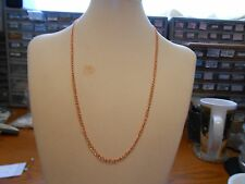 Necklace Chain, Copper 18 inch, Curved Oval 4 mm, with Copper Lobster Clasp