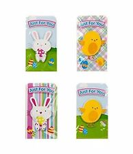 Pack of 4 Easter Money Wallet Cards - Chick & Bunny Designs