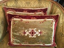 A PAIR! 【Antique Decor】Pillow Home Decorative Bed Chair Cushion