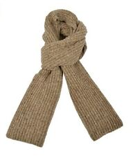 Ferruccio Vecchi Donegal Knit Scarf Beige One Size Made In Italy