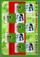 2002 FRANCE  BLOC N°49** CHAMPIONS MONDE FOOTBALL LUXE NEUF TIMBRE STAMP SHEET