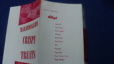 Kay Kelloggs K Marshmallow crispy treats rice crispy pamphlet recipe