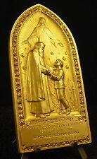 Médaille religious 275g L'adoption Orphelins d'Auteuil Medal 铜牌 Debauve Lesaffre