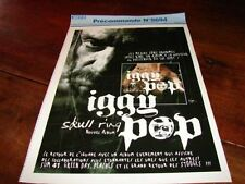 IGGY POP SKULL RING!!!!!!!!!!!!!!!RARE FRENCH PRESS/KIT