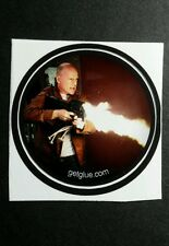 "LOOPER BRUCE WILLIS FIRE STREAM  MOVIE SMALL 1.5"" GET GLUE GETGLUE STICKER"