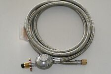 Stainless Steel Ziegler Brown BBQ to LPG gas bottle POL hose,  3m