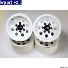 Hot Racing BLW22H38 Steel 2.2 Beadlock 6-Lug 8-Hole Wheels for 12mm Hex (White)(