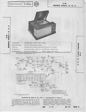 1957 V-M 560A-1 RECORD PLAYER CHANGER SERVICE MANUAL PHOTOFACT SCHEMATIC 2 3 4