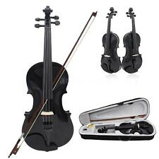 4/4 Full Size Violin Fiddle Basswood Arbor Bow for Kids Over 13 Black Q8B6