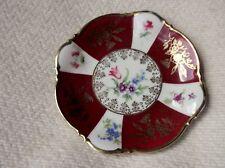 SMALL SWEET & ELEGANT altamente Gilded PIN PIATTO Ricco Rosso Floreale pannelli ZEH SCHERZER