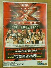 The X Factor - Aberdeen/Glasgow feb-march 2017 tour concert gig poster