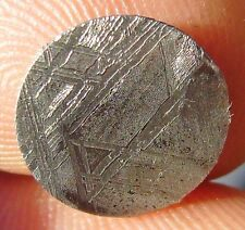 GIBEON meteorite KILLER etched slice 0.56 G. round coin 12x1 mm ETCHED